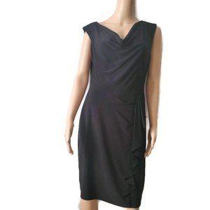 Evan-Picone Classic Black Sleeveless Dress Size 8